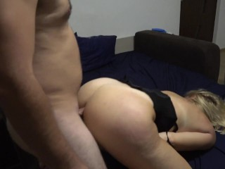 A night with a crazy milf Part Ass fucked and licking balls