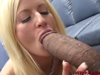 Busty Bbc Monster video: Busty MILF Lauren on her knees slobbering monster BBC