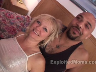 Blonde Amateur Milf loves Big Black Dick in Mature Hot Wife Porn Video