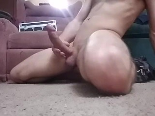 Hot stud plays with his monster cock!