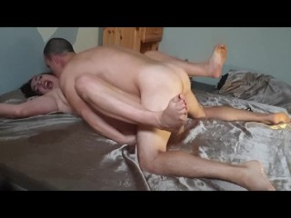 Restrained passionate missionary Cum on face