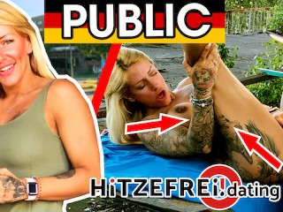 Tattooed and pierced! FitXXXSandy fucked in public! HITZEFREI.dating