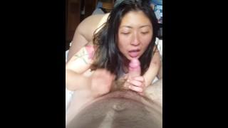 Hot Asian Japanese girlfriend blowjob