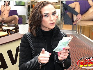 GERMAN SCOUT FITNESS GIRL TALK TO FUCK AT REAL STREET PICKUP CASTING
