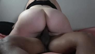 Thick White Girl Riding Big Dick