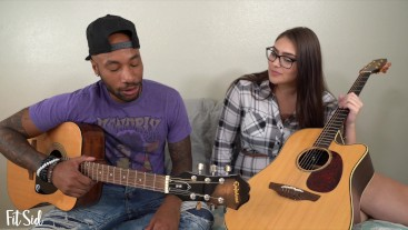 Thick White Girl comes over to BBC for Guitar Lesson and Fucks Instead