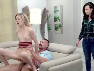 Two Men And An XXX Show – Charlie Charms His Way Into A Threesome