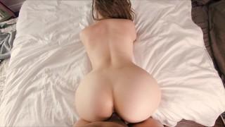 Slutty PAWG Teen Rides Dick Reverse Cowgirl, Cum in Mouth - EllaKai
