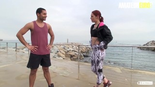 AmateurEuro - Hot Spanish PornStar Picks Up Random Amateur To Suck Him Dry