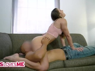SisLovesMe - Sexy Stepsister Gets Her Stepbrother's Dick Wet