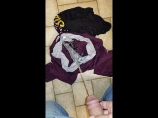 My step sisters clothes she left bathroom floor