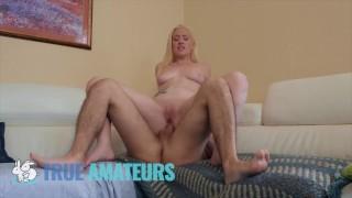 Blonde gf films her first anal fuck - Trueamateur