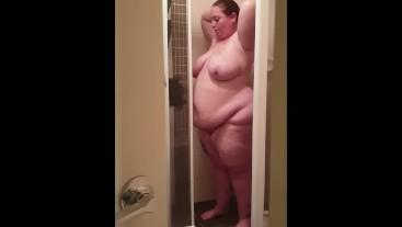 Bbw spied on in shower