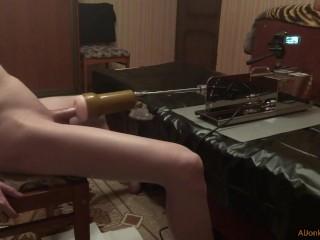 Powerful cum from a sex-machine