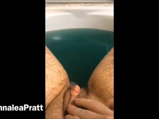 Hairy and Muscular Piss Babe with Huge Clit