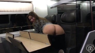 Dani Daniels . com - Flashing on a Train in Italy