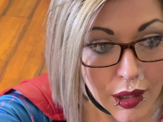 Supergirl Striptease and Facial Cinnamon Anarchy