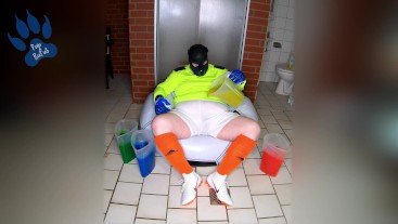 Soccer Gunge Pup making a (colourful) mess (w/ happy ending)