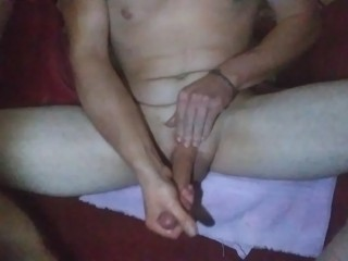 Sexy guy solo masturbation with big cock