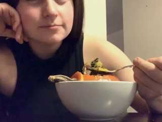 Watch me eat some hot as fuck soup SFW Kink Exploration Part