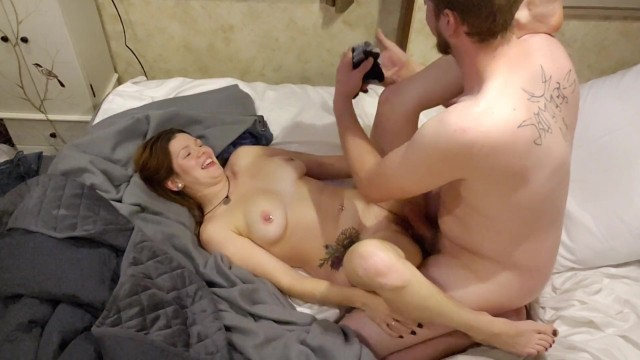 Redhead Wife Squirts Loads While Room Shakes