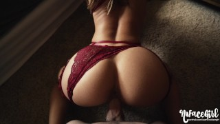 She Seduces And Makes Me Cum Inside Her- amateur couple NoFaceGirl