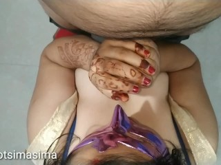 Indian bhabhi execute cock licking rimjob large tits