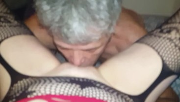 Daddy licking my Pussy