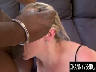 Granny Vs BBC Mature Nicol Gets Plowed by Her Black Lover