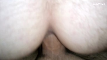 Hunk dumped cum inside me while I was jumping on his huge dick