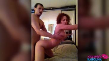 Hot MILF Blowjob Dick Neighbor and Rough Sex after Watching Porn