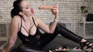 You must get fucked by Shemale! And beautiful woman's face and big dick!