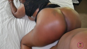 Thick ebony Nubia Narelli gets that ghetto booty and huge DDD tits fucked