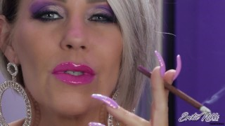 Smoking A More As the Smoke Billows From My Wet Pink Lips - Nikki Ashton -