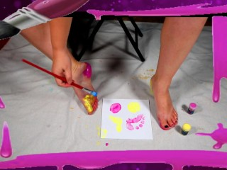 Painting with My Feet