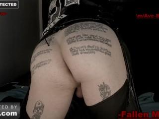 leather devil worship intense webcam session
