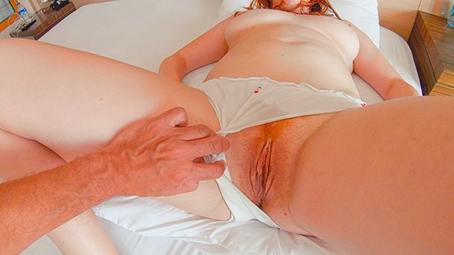 Panties with hairy - Fuck my white panties hairy ginger pussy big boobs redhead pantyjob cum