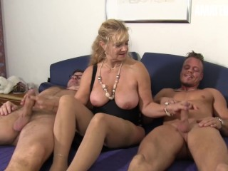 AmateurEuro Mature Step MOM Fucked Hard By Her Step Grandsons