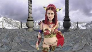 Sexy Redhead Tana Lea Seduces Whorecraft Warrior