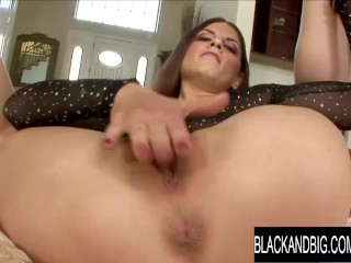 Black and Big Rochelle Ryder Plays with Herself till BBC Comes for Help