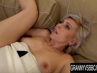 Granny Vs BBC Older Kathy White Makes Her Black Bull Cum Inside