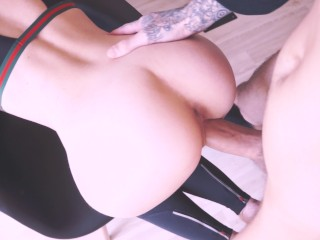 Cute girl loves to get fucked after workout Creampie