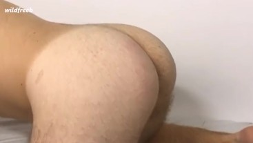 Friend spank my ass with belt because I was bad boy