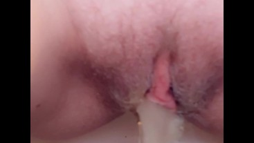 close up horny babe, pissing