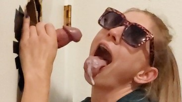 Slut Gives Another Glory Hole BJ