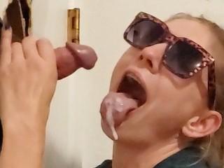 Slut Gives Another Glory Hole BJ