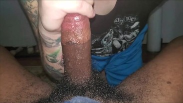 Str8 Hung College BBC Blowjob Roomie Comes Home Finish in Basement Cumshot