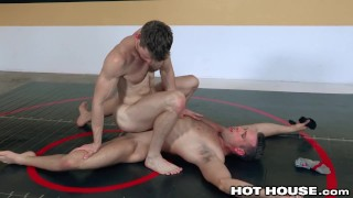 HotHouse 2 Hunks Wrestle For A RAW Fuck
