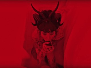 Goth Red Demon Succubus Suck and Fuck