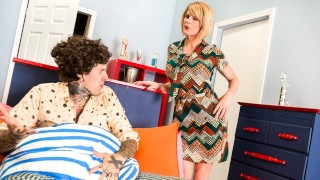 TrannyPros The Tranny Bunch with Stepmom Delia DeLions